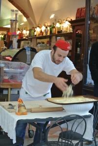 Making the local Picci pasta!